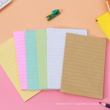 Coussin collant mignon de notes collant d'autocollant coloré de notes collantes de forme adaptées aux besoins du client par OEM