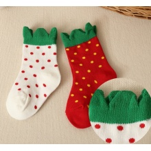Kinder-Erdbeer-Baumwollsocken