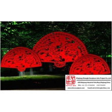 Large Fan Light Sculpture
