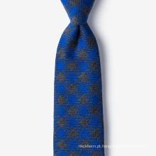 Crie seu próprio laço do pescoço de lãs de seda dos homens da marca própria do tipo