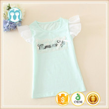 2015 summer fashion all over printed /embroidery kids/child t-shirt