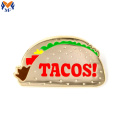Metall Custom Taco Emaille Pin
