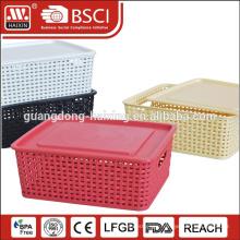 Guangzhou HAIXING storage plastic rattan basket