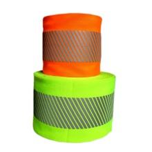 Желтая / оранжевая светоотражающая предупреждающая лента
