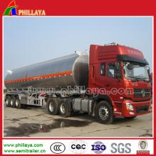 3achs 30-60cbm Wasser Milchkraftstoff Aluminium Tankwagen Halbauflieger