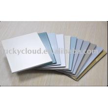 Luckybond incassable PVDF et PE, brosse et miroir en aluminium composite panneau en plastique