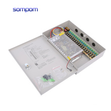 Amazon hot sale 18CH Channel Power Supply Box for CCTV Camera Security Surveillance12V 15A DC