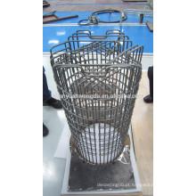 Aquecedor de gaiola de tungstênio para vácuo ou gás protegido alta temperatura forno