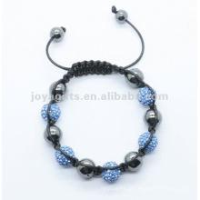 2012 Joya rosa shamballa pulseira de bola de cristal