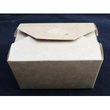 Boîte de salade de boîte de salade de papier de Kraft de Brown de catégorie comestible