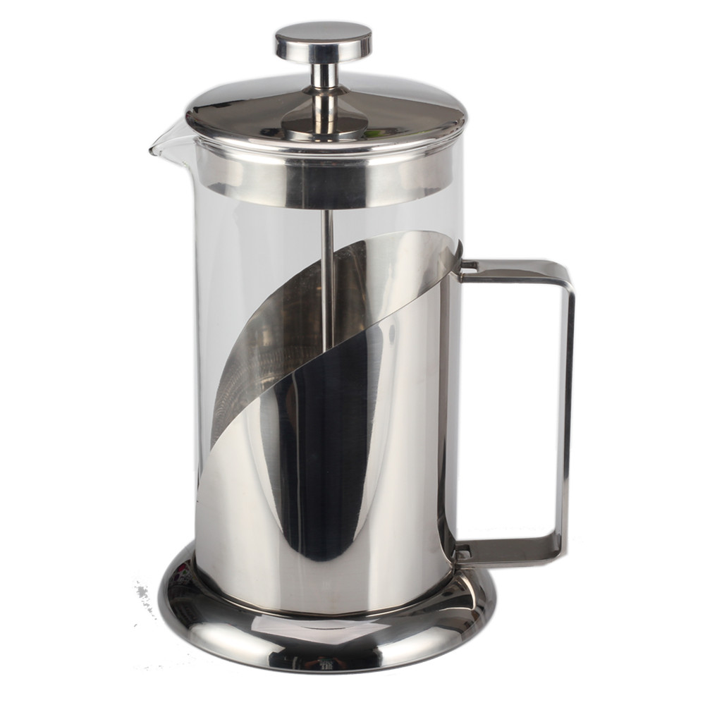 Stainless Steel Wide Handle Of Glass French Press Kettle