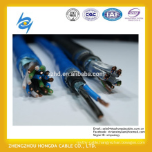 450/750V PVC insulated copper wire braiding shielded steel wire armoured instrument cable
