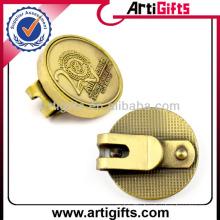 Antique gold plating metal blank golf ball marker