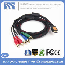 HDMI Eingang RCA Ausgang HDMI zu 5 RCA Splitter Kabel mit Video Audio AV Geschirmtes Kabel Kabel 1080p