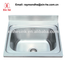 Commercial Kitchen Catering Sink Scullery Basin with Single Bowl, Stainless Steel One 1 Compartment Sink with underframe