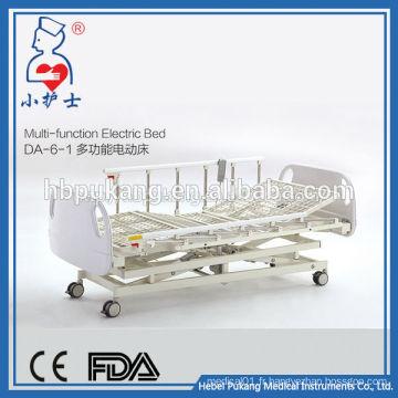 DA-6-1 Vente en usine de Chine lit d'hôpital multifonctionnel / lit électrique réglable en urgence médicale / lit électrique à moteur T-motion