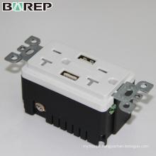 TR-BAS20-2USB Industrial electrical plug hot sale gfci standard outlet