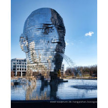 gespiegelter Wasserbrunnen Metalmorphosis von David