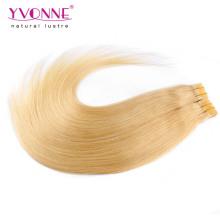 Couleur # 613 Extensions de cheveux de bande de trame de peau