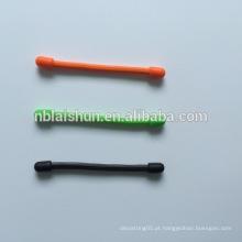 Laço de engrenagem do silicone do preço por atacado Laço de torção reusável da borracha para cores do arco-íris