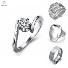 Benutzerdefinierte Edelstahl Silber Ring Designs für Mädchen, Edelstahl Silber Ring