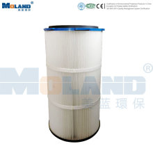 Cartucho de filtro pregueado PTFE para coletor de poeira