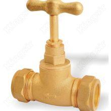 Pare de bronze válvula com Conexão de virola