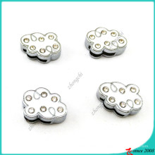 Émail blanc 8mm breloques curseur pour bijoux bricolage (SC16041903)