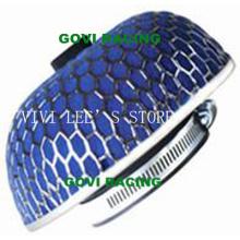 Sponge Car Luftfilter mit 76mm Eisen Mesh Blue Universal für Auto Lufteinlass Rohr