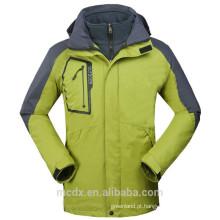 New Men Impermeável à prova de vento 3in1 Soft Shell Fleece Ski Snowboard Outdoor Jacket