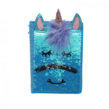 BLUE UNICORN SEQUINS NOTEBOOK-0