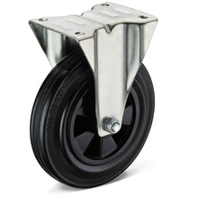 13 Series Black Rubber Flat Bottom Bockrollen