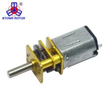 Motor eléctrico micro del robot del coche del motor caliente del engranaje de DC 6V