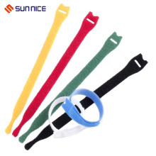 100% Nylon Hook and Loop Colorful Cable Ties