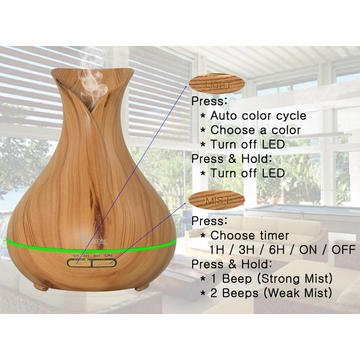 Humidificateur de table personnel ultrasonique silencieux de 400ml Whisper