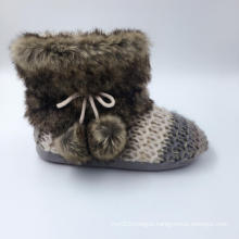 Women′s knitted Warm Indoor Slippers