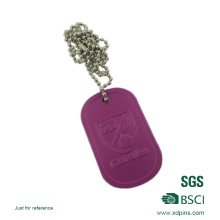 2014 Cheap Wholesale Custom Metal Military Dog Tag with Rubber