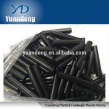 Espaciadores redondos de aluminio negro M3-0.5