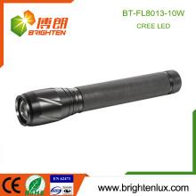 Factory Supply 3 Cellules C Fonctionnées Multi-fonctionnelles Heavy Duty Emergency 10w cree led Brightest Zoom Flashlight avec 5 modes light