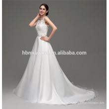 Hot vender barato luxo senhoras crochet lace backless saudita vestido de noiva para noiva
