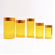 Frascos plásticos do cilindro de 95ml-750ml com tampão do alumínio (EF-J21)