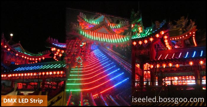 DMX LED strip outdoor