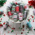 Nouveau produit jouet de Noël Push Pop avec des confettis vert et rouge pour les enfants