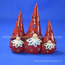 Ceramic Christmas Candle Holder, Santa Claus (Indoor Home Decoration)