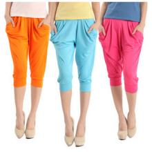 Frauen Mode Bonbonfarben abgeschnitten Harem Hosen (SR8206)