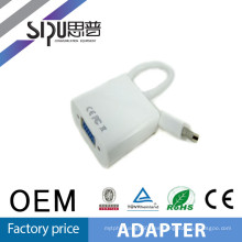 SIPU 4.8MM 25cm mini puerto de pantalla de color blanco para cable vga