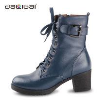 DALIBAI 5093 forma meninas couro genuíno montando botas martin cavaleiro senhora boot