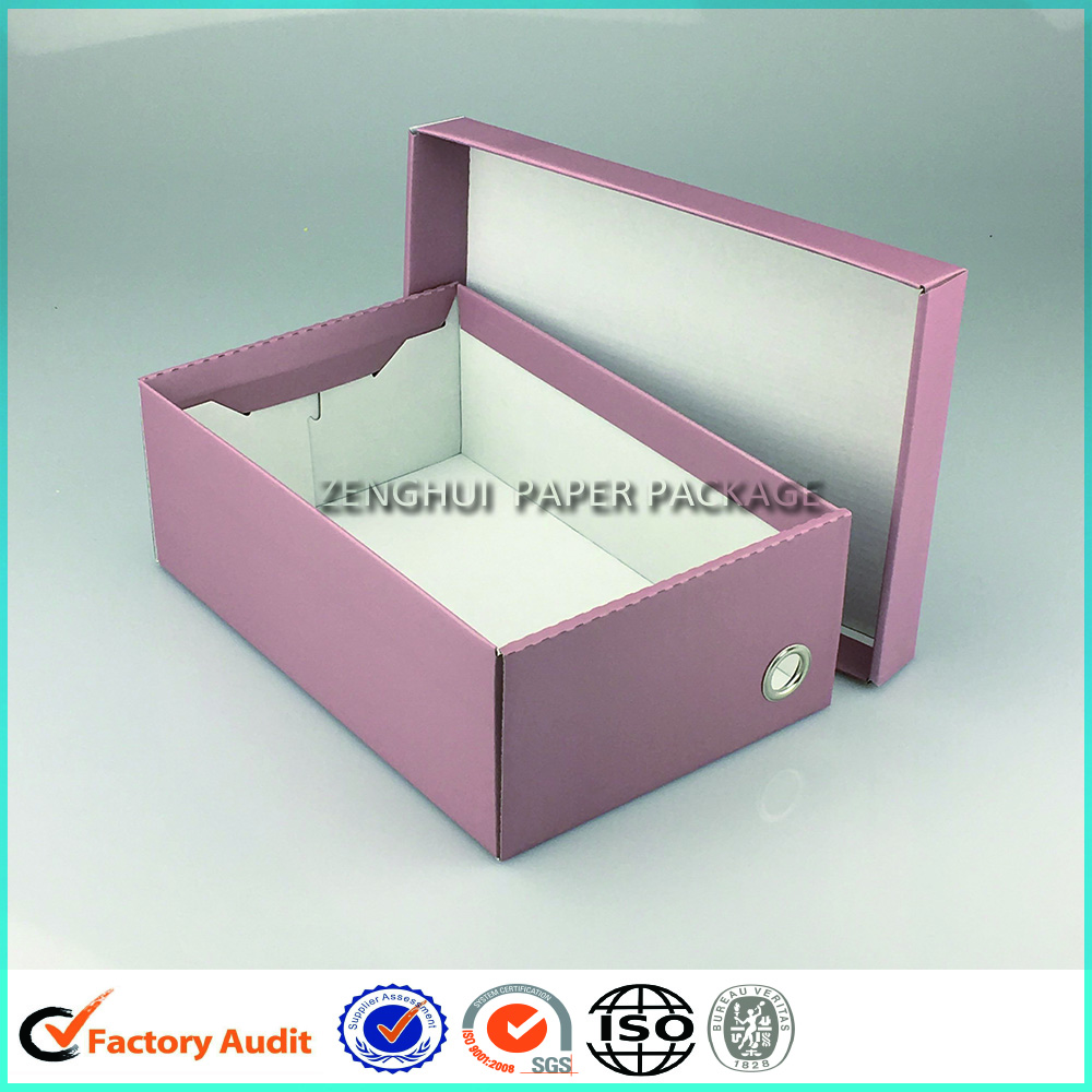 Flat Pack Corrugated Shoe Box Packaging