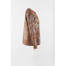 Veste plissée en daim à tricoter