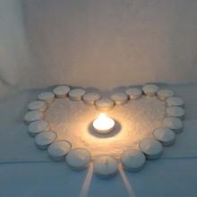 Vela candelita de bolsa de color para boda